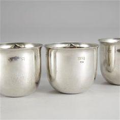Whiskymuggar 4 st silver Birger Haglund