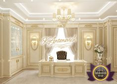 Villa Interior Design in Dubai, Saudi Arabia Madina Monaowara, Photo 48 Office Cabin Design, Office Interior Design, Office Interiors, Luxury Rooms, Luxury Homes Interior, Interior Exterior, Bridal Boutique Interior, Luxury Office Chairs, Beauty Room Decor