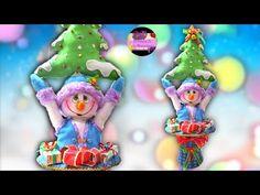 Muñeco de nieve dentro de un sombrero reciclado y árbol navideño en fieltro (Moldes Gratis) | Epdlm - YouTube Snow Globes, Youtube, Christmas Ornaments, Holiday Decor, Make A Snowman, How To Make, Recycled Materials, Ornaments, Xmas Ornaments