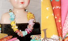 Crafts For/With Kids- Fabric Scrap Necklace- Fabric Jewelry is a Girl's Best Friend
