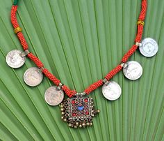 Vintage Kuchi Tribal Necklace Jewelry