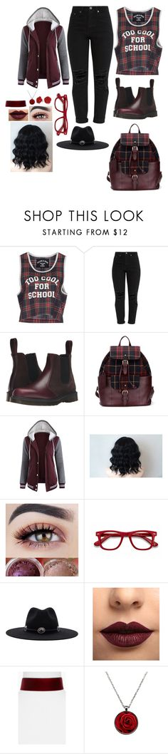 """""""Outfit"""" by gabymyredis ❤ liked on Polyvore featuring Filles à papa, Dr. Martens, EyeBuyDirect.com, Brixton, LASplash, BaubleBar and Bling Jewelry"""