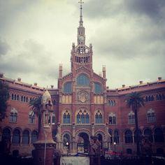 Palau de la Musica Catalana and Hospital de Sant Pau - Barcelona, Catalonia, Spain