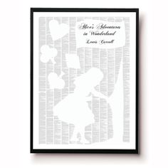 spineless classics alice in wonderland artwork print ...The entire Alice's Adventures in Wonderland on a print!