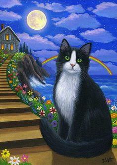 Tuxedo cat by Bridget Voth