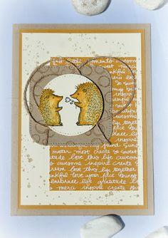 by Keksie: Love you lots, Igel, Stampin up, Karte, Playful Backgrounds