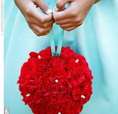 wedding colors light blue with red