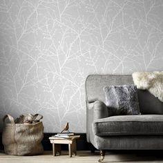 Superfresco Easy Grey Innocence Twig Wallpaper   Debenhams