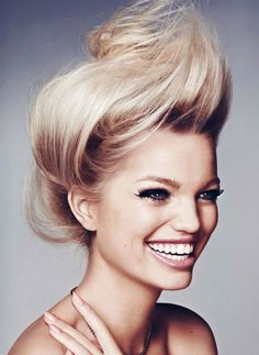 romanticnaturalism:  A radiant smile from Daphne Groeneveld in 'Alguien Nos Mira' photographed by Txema Yeste for Harper's Bazaar Spain April 2013 #hair