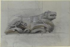 Ruskin, John - A Lombardic Lion and Serpent, built into a Wall in Venice