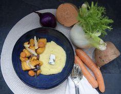 Hummus, Dairy, Cheese, Ethnic Recipes, Food, Fennel, Onion, Polenta Fries, Seasonal Recipe