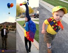 Up: Mr. Fredrickson, Kevin, and Russel - Halloween Costume Contest via @costumeworks