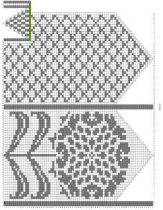 beautiful pattern for mittens. Crochet Mittens Free Pattern, Fair Isle Knitting Patterns, Knit Mittens, Knitting Charts, Crochet Chart, Knitted Gloves, Knitting Stitches, Knitting Socks, Knitting Magazine