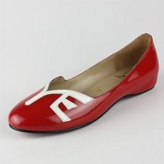 Christian Louboutin Red Patent Leather Flats