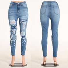 c81aaa7bead Women Sexy Hole Ripped Jeans Female Hip Up Pencil Denim Jeans Women S  Spring Autumn Winter Pencil Pants