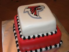 Atlanta Falcons Grooms Cake for Jackson. Jackson and Emma are die hard Falcons fans. Always the Baker, Finally the Bride.
