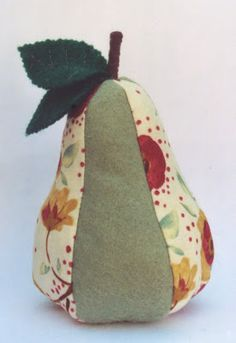 "FREE project: ""It's All Gone Pear-Shaped"" pear pincushion (from U.K. Lass in U.S.)"