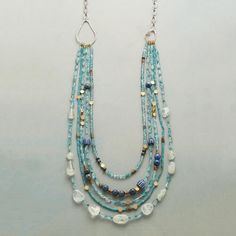 BRASSY BLUES NECKLACE: View 1