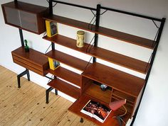 Modern_Wall_Units_Manufactured_from_Teak_Wood_Color_Brown_1