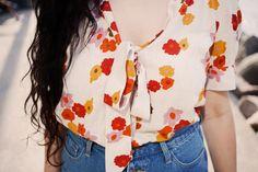 Blusa floral de inspiración vintage | Pepaloves