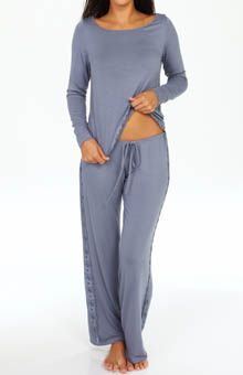 2c5beecda59c Fleur t Rozaline High-Low Top   Pant w  side lace in Moonshadow  www.labellaintimates.com