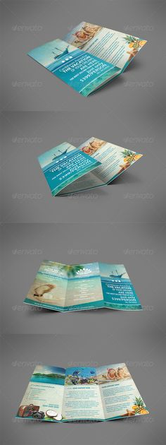 Vintage Travel Brochure Tri-fold - GraphicRiver Item for Sale
