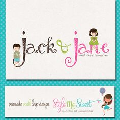 Premade Logo Design Exclusive Children by stylemesweetdesign, $245.00