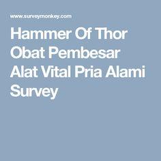 Hammer Of Thor Obat Pembesar Alat Vital Pria Alami Survey