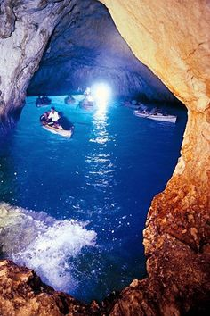 The Blue Grotto, or La Grotta Azzurra, in Capri - Private Boat Tours, Amalfi Coast and Capri Places Around The World, Oh The Places You'll Go, Travel Around The World, Places To Travel, Places To Visit, Capri Italia, Beautiful World, Beautiful Places, Boat Tours