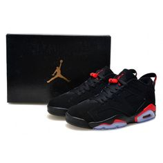 5e9d483be312 Air Jordan VI 6 Low GS Black Infrared 23 Sport Red Jordans 6
