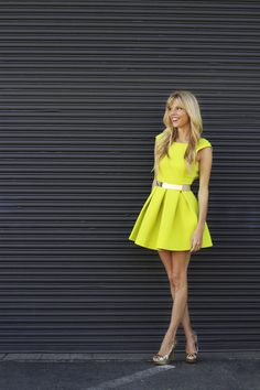 This outfit has my name all over it!!   aqua by aqua dress chartreuse