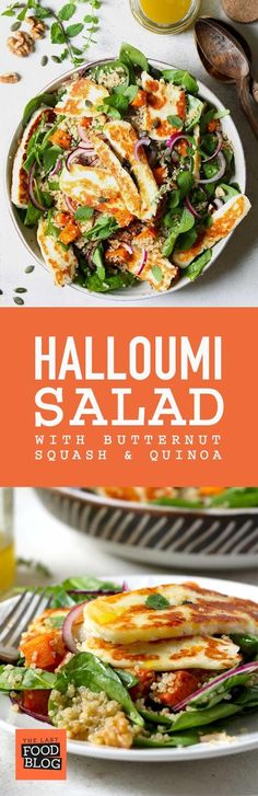 Halloumi Salad with Butternut Squash & Quinoa