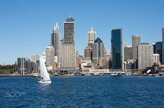 Sydney Australia View With City Skyline