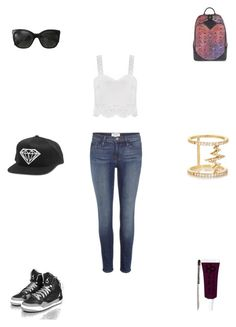 """Untitled #2289"" by webbgyrl2000 ❤ liked on Polyvore featuring Frame Denim, MCM, Chanel, Khai Khai and Obsessive Compulsive Cosmetics"