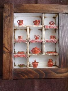 Rustic Table with thumbnails by ArtLittle on Etsy