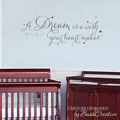 Wall Decal Cinderella Princess Nursery room decor #bushcreative
