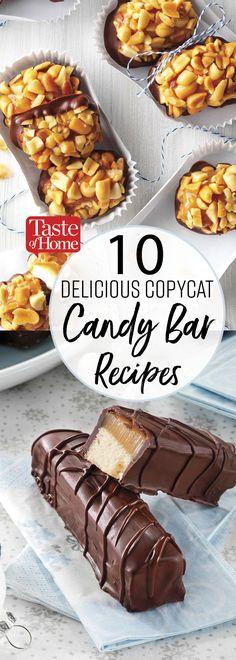 8 Copycat Candy Bar Recipes