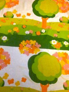 Fun 1970s Children's fabric  I wish I had this my girls bedroom!!