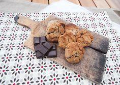 Cookies végétaliens chocolat-amandes (sans œufs, sans beurre, sans lactose, sans gluten) - Cocotte et Biscotte (à la farine de châtaigne)