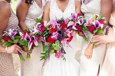 Bold bouquets for a unique bride| Just Dandy Events