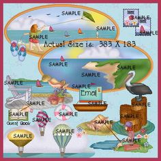 Seaside Collection Web Graphics~Pollyanna Graphics