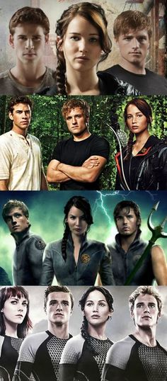 the hunger games movies with some of the characters