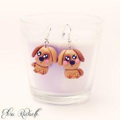 dog earrings - polymer clay