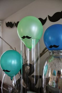 mustache themed party