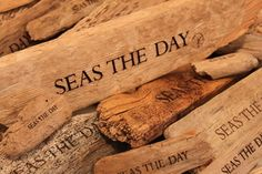 Driftwood... Artistically crafted to remind us to SEAS THE DAY