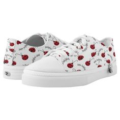 5fad4ba15ab5c2 Original Ladybugs Low Top Custom Shoes