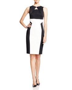 KAREN MILLEN Graphic Signature Pencil Dress | Bloomingdale's