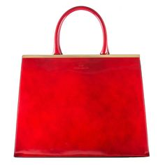Brenda Macleod GraceTote in Red Leather. ($935) ❤ liked on Polyvore featuring bags, handbags, genuine leather handbags, red purse, red leather tote bag, red tote bag and genuine leather purse