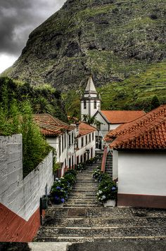 | ♕ | Steep street in San Vicente, Madeira !!