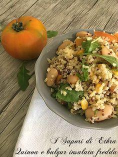 Quinoa e bulgur insalata fredda primo piano